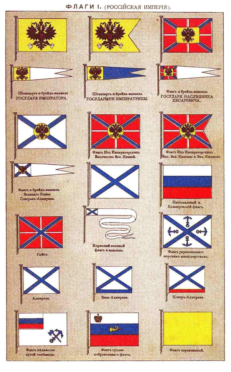 Флаги i штандарт и брейд вымпел