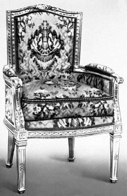 Декоративно-прикладное искусство. Кресло. Дерево, резьба, золочение. Англия. Конец 18 в.