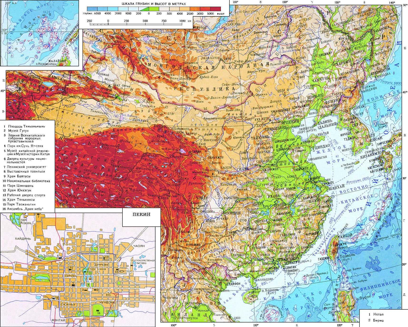 Где на карте находятся великая китайская равнина