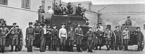 Красногвардейцы Замоскворечья. Москва. Октябрь 1917.
