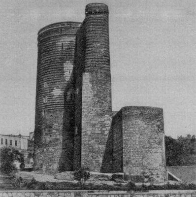Девичья башня в Баку. 12 в.