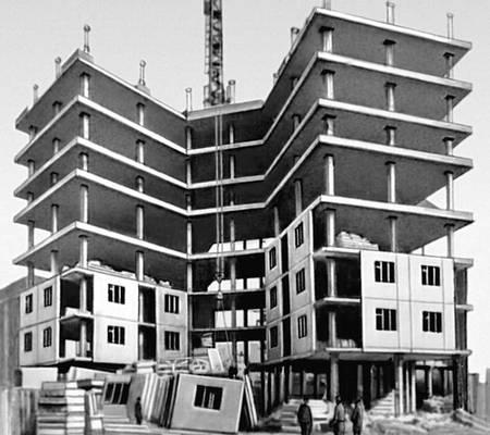 Строительство высотного дома методом