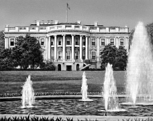 Белый дом южный фасад