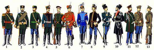 11 унтер офицер флота 1881 12 штаб офицер