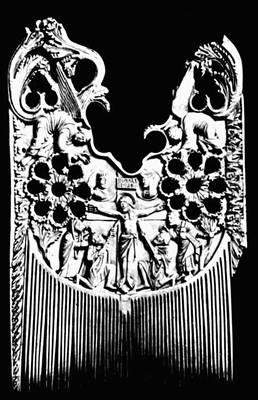 «Гребень св. Хериберта». Слоновая кость. Конец 9 в. Музей Шнютгена. Кёльн.