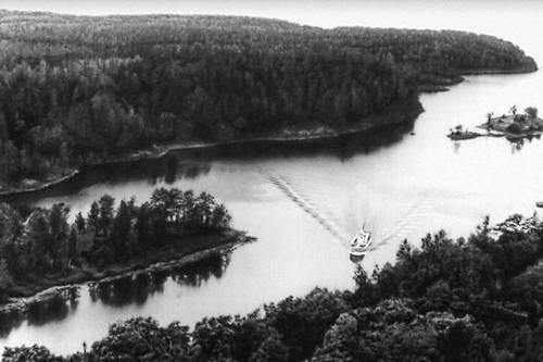 На Ладожском озере.