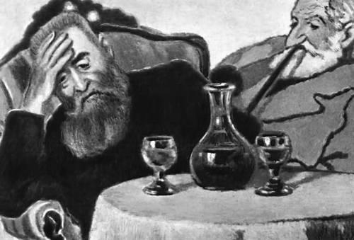 Й. Рипль-Ронаи. «Мой отец и дядя Пиачек». 1907. Венгерская национальная галерея. Будапешт.