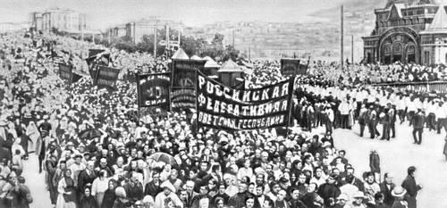 Демонстрация за власть Советов во Владивостоке. 1918.