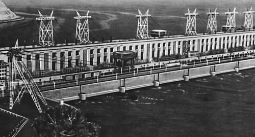Волжская ГЭС им. В. И. Ленина.