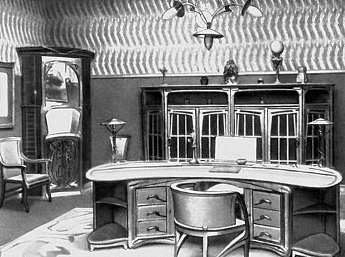 Х. К. ван де Велде. Кабинет. 1906.