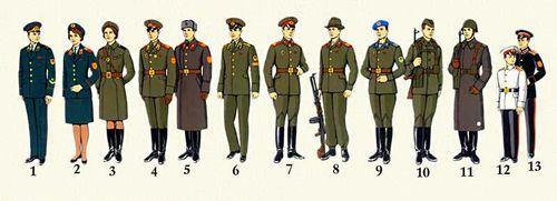 Форма одежды офицеров и прапорщиков