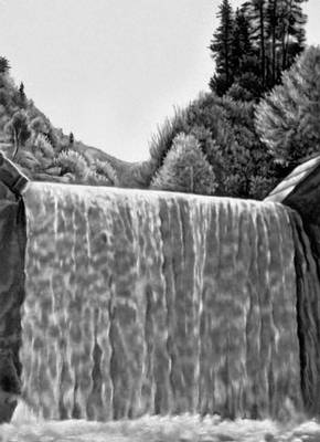 Карпаты. Водопад на реке Теребля (УССР).