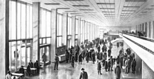 Зала аэровокзала внуково 1 москва 1960