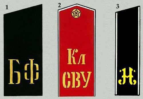 Погоны военнослужащих советской