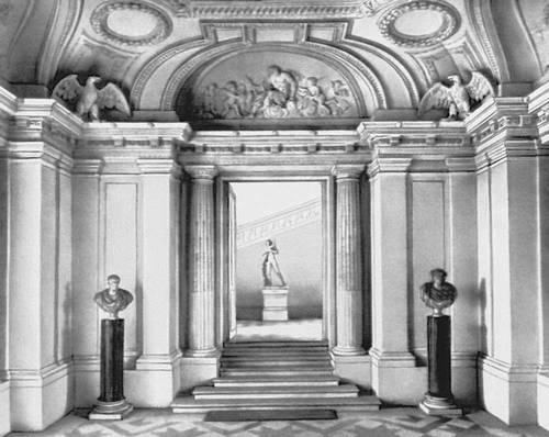 Ф. Мансар. Дворец Мезон-Лаффит близ Парижа. 1642—50. Вестибюль.