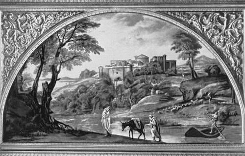 Аннибале Карраччи. «Бегство в Египет». Около 1603—04. Галерея Дориа-Памфили. Рим.