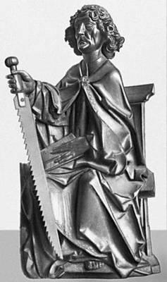 Т. Рименшнейдер. «Св. Симон» (из Мариенкапелле в Вюрцбурге). Дерево. Около 1500. Баварский национальный музей. Мюнхен.