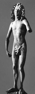 Т. Рименшнейдер. Статуя Адама. Камень. 1491—93. Майнско-Франконский музей. Вюрцбург.