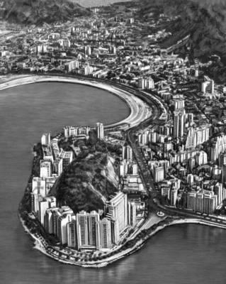 Бразилия. Район Морру-да-Виува в Рио-де-Жанейро. Застройка сер. 20 в.