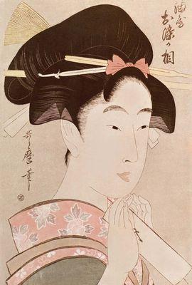 японская гравюра красавицы
