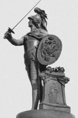 Памятник А. В. Суворову в Ленинграде. Бронза. 1799—1801.