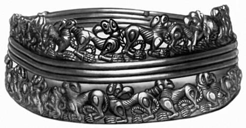 Сарматы. Золотая гривна из кургана Хохлач. 1 в. до н.э. — 1 в. н.э.