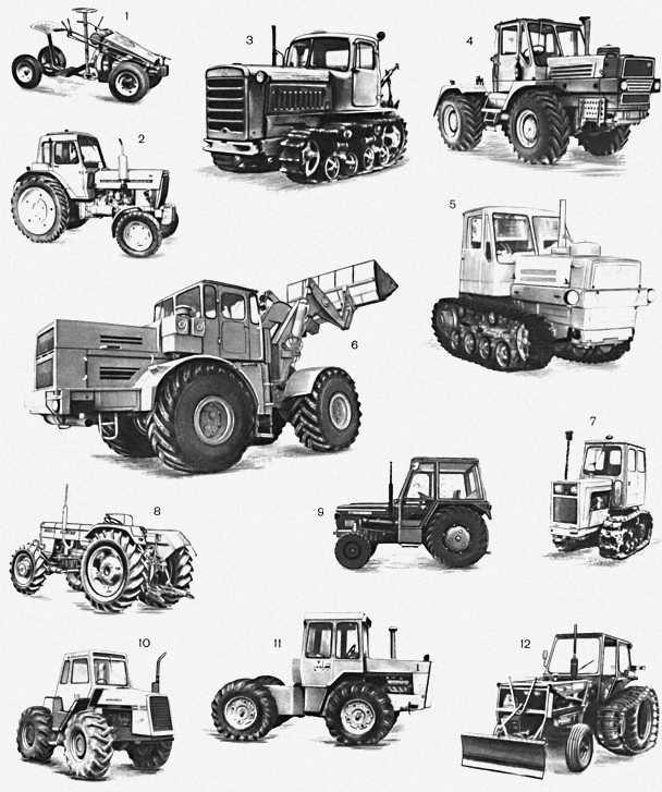 Рисунки трактора карандашом