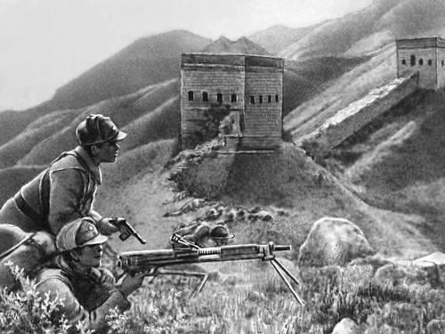 Бойцы 8 й армии в боях с японскими