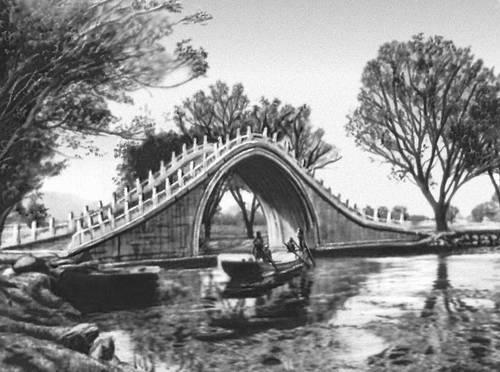 Верблюжий мостик в парке ихэюань в
