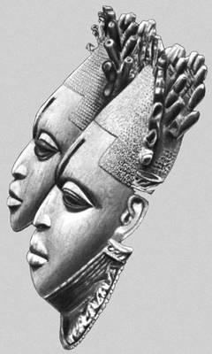 Маски-подвески из слоновой кости. Бенин. 15—16 вв. Музей искусства примитивов (Нью-Йорк) и Британский музей (Лондон).