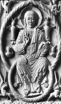 «Христос во славе». Слоновая кость. 10 в. Государственные музеи. Берлин-Далем.