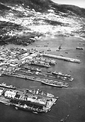 Япония панорама нового порта кобе о