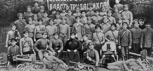 Красногвардейцы отряда Тамбовского порохового завода. 1917—18.