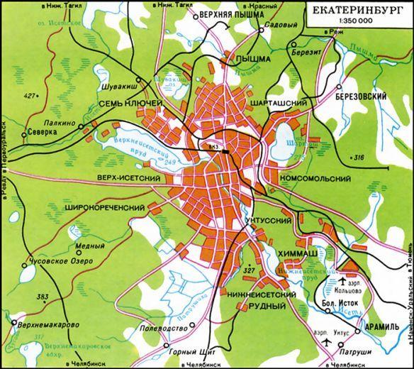 Карта екатеринбурга с фото улицами