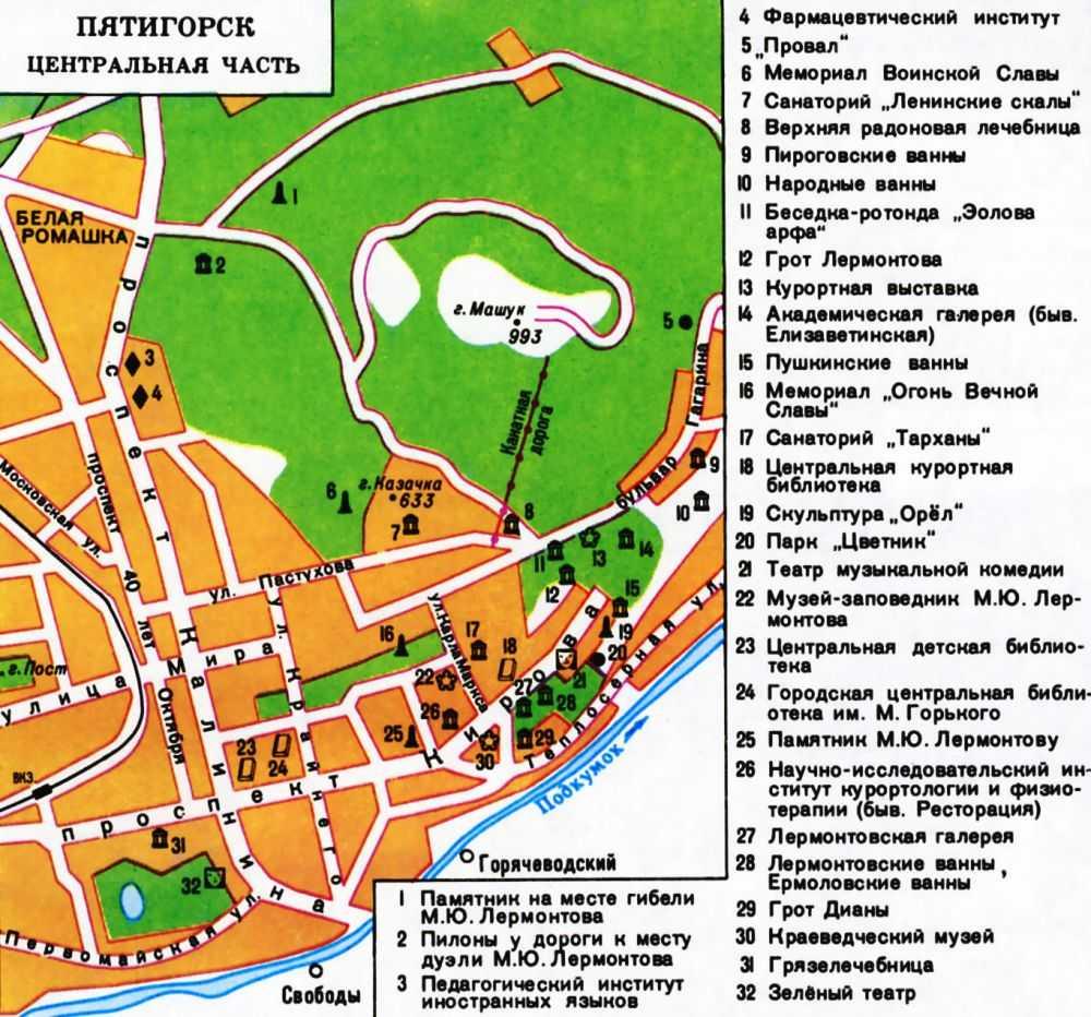 """Пятигорские  """"народные """" радоновые и сероводородные ванны плюс экскурсионный маршрут по городу."""