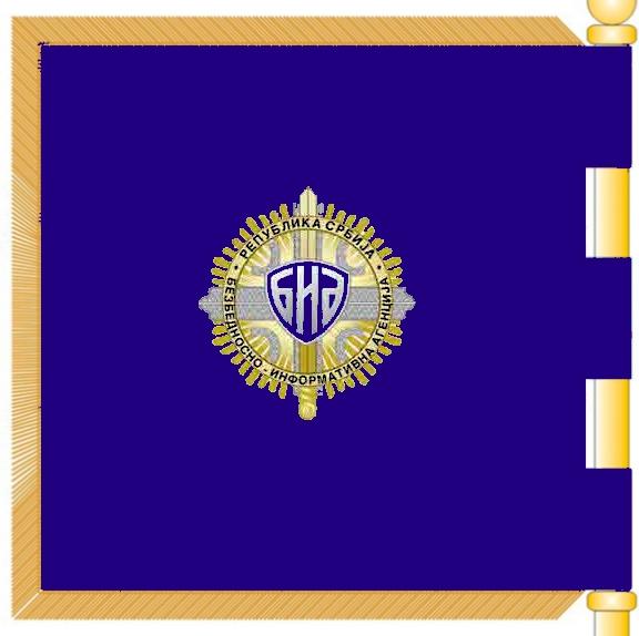 Flagge Serbiens