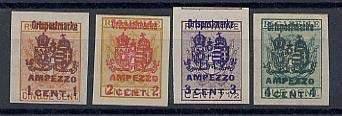 Почтовые марки Ампеццо