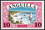 Почтовая марка Ангильи