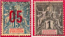 Почтовые марки Анжуана