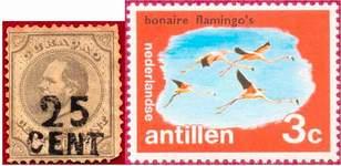 Почтовые марки Антильских о-вов