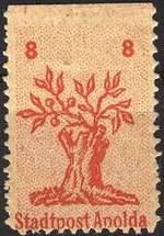 Почтовая марка Апольды