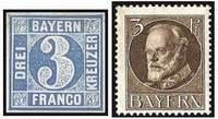 Почтовые марки Баварии