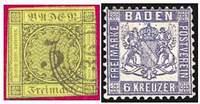 Почтовые марки Бадена