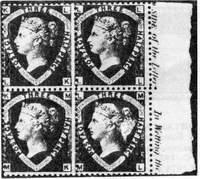Буквы угловые на почтовых марках Великобритании
