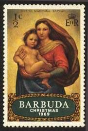 Почтовая марка Барбуды