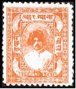 Почтовая марка Барвани