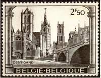 Почтовая марка Бельгии