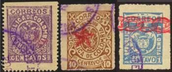 Почтовые марки Боготы