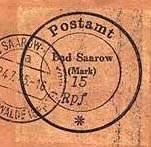 Почтовая марка Бад-Сааров