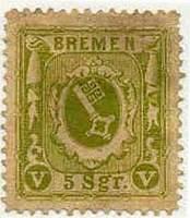 Почтовая марка Бремена